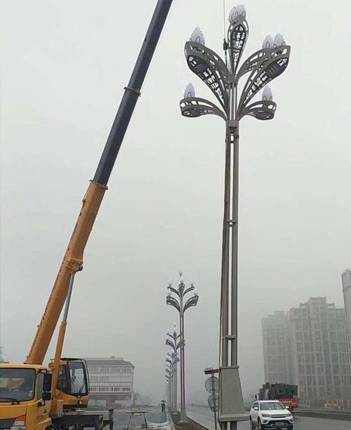 南京江宁区绕城主路花灯施工案例